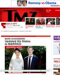 Mark Zuckerberg Married Facebook Founder Weds: TMZ.com